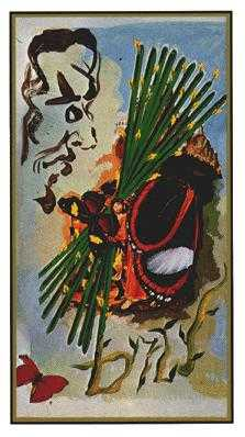 Ten of Batons Tarot Card - Salvador Dali Tarot Deck