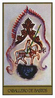Knight of Staves Tarot Card - Salvador Dali Tarot Deck