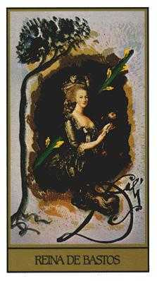 Queen of Rods Tarot Card - Salvador Dali Tarot Deck