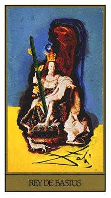 King of Batons Tarot Card - Salvador Dali Tarot Deck
