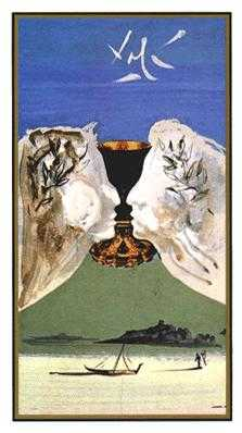 Ace of Ghosts Tarot Card - Salvador Dali Tarot Deck