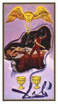 Two of Hearts Tarot Card - Salvador Dali Tarot Deck