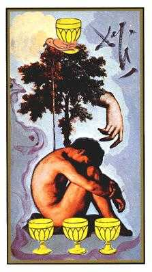 Four of Cups Tarot Card - Salvador Dali Tarot Deck