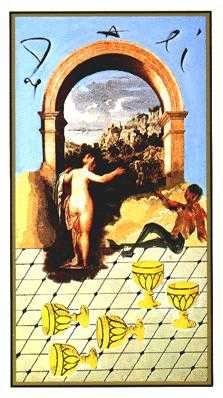 Five of Hearts Tarot Card - Salvador Dali Tarot Deck