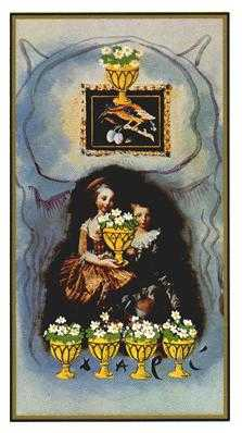 Six of Hearts Tarot Card - Salvador Dali Tarot Deck