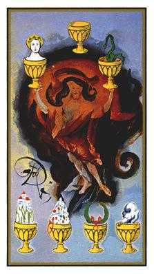 Seven of Cups Tarot Card - Salvador Dali Tarot Deck