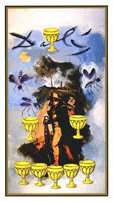 Eight of Cauldrons Tarot Card - Salvador Dali Tarot Deck