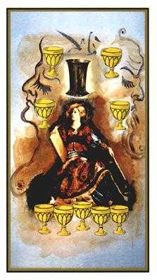 Nine of Hearts Tarot Card - Salvador Dali Tarot Deck