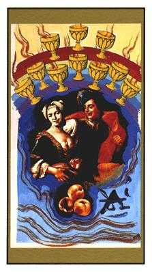 Ten of Hearts Tarot Card - Salvador Dali Tarot Deck