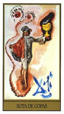 Page of Hearts Tarot Card - Salvador Dali Tarot Deck