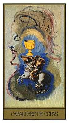 Cavalier of Cups Tarot Card - Salvador Dali Tarot Deck