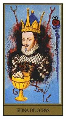 Queen of Bowls Tarot Card - Salvador Dali Tarot Deck