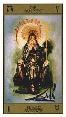 The Hierophant Tarot Card - Salvador Dali Tarot Deck