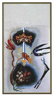 Ace of Bats Tarot Card - Salvador Dali Tarot Deck