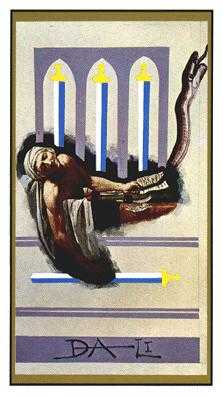 Four of Swords Tarot Card - Salvador Dali Tarot Deck