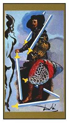 Five of Swords Tarot Card - Salvador Dali Tarot Deck