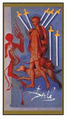 Seven of Arrows Tarot Card - Salvador Dali Tarot Deck
