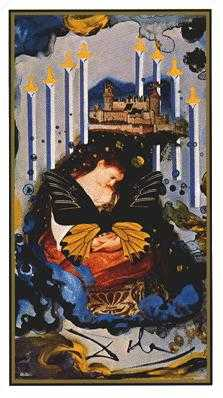 Eight of Swords Tarot Card - Salvador Dali Tarot Deck