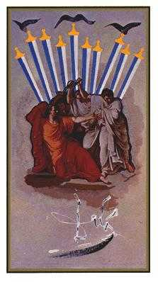 Ten of Arrows Tarot Card - Salvador Dali Tarot Deck