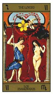 The Lovers Tarot Card - Salvador Dali Tarot Deck