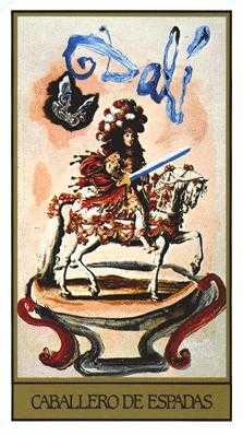 Knight of Spades Tarot Card - Salvador Dali Tarot Deck