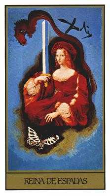 Queen of Swords Tarot Card - Salvador Dali Tarot Deck