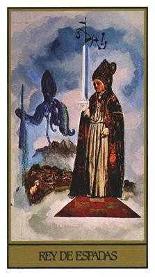 Father of Swords Tarot Card - Salvador Dali Tarot Deck