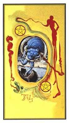 Two of Coins Tarot Card - Salvador Dali Tarot Deck