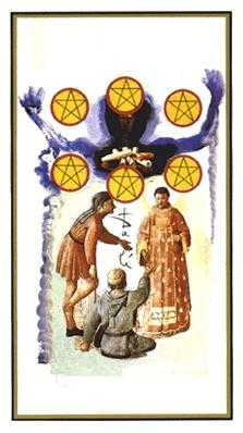 Six of Pentacles Tarot Card - Salvador Dali Tarot Deck