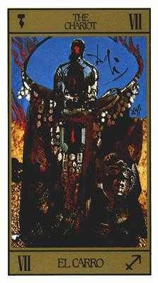 The Chariot Tarot Card - Salvador Dali Tarot Deck