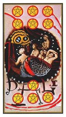 Ten of Rings Tarot Card - Salvador Dali Tarot Deck