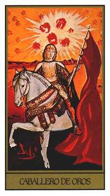 Knight of Coins Tarot Card - Salvador Dali Tarot Deck