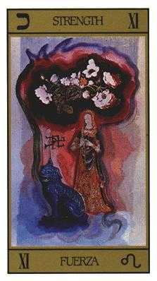 Strength Tarot Card - Salvador Dali Tarot Deck