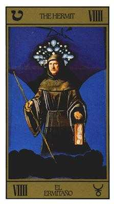 The Hermit Tarot Card - Salvador Dali Tarot Deck