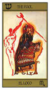 The Fool Tarot card in Salvador Dali deck