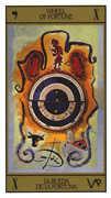 Wheel of Fortune Tarot card in Salvador Dali deck