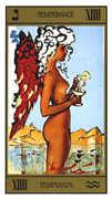 Temperance Tarot card in Salvador Dali deck