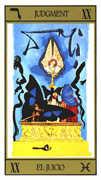 Judgement Tarot card in Salvador Dali Tarot deck