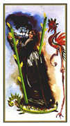 Two of Wands Tarot card in Salvador Dali deck