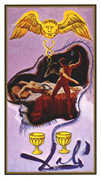 Two of Cups Tarot card in Salvador Dali deck