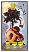 Four of Cups Tarot card in Salvador Dali deck