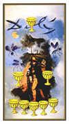 Eight of Cups Tarot card in Salvador Dali Tarot deck