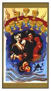 Ten of Cups Tarot card in Salvador Dali Tarot deck