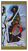 Five of Swords Tarot card in Salvador Dali deck