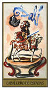 Knight of Swords Tarot card in Salvador Dali deck