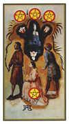 Four of Coins Tarot card in Salvador Dali Tarot deck