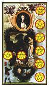 Eight of Coins Tarot card in Salvador Dali Tarot deck
