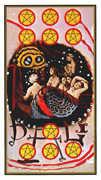 Ten of Coins Tarot card in Salvador Dali Tarot deck