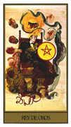 King of Coins Tarot card in Salvador Dali deck