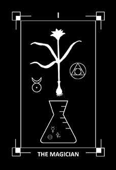 The Magician Tarot Card - Dark Exact Tarot Deck